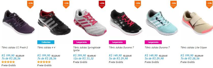 Tênis em promoção da Adidas Feminino