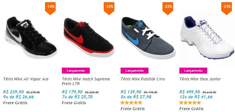 Tênis masculino em promoção da Nike