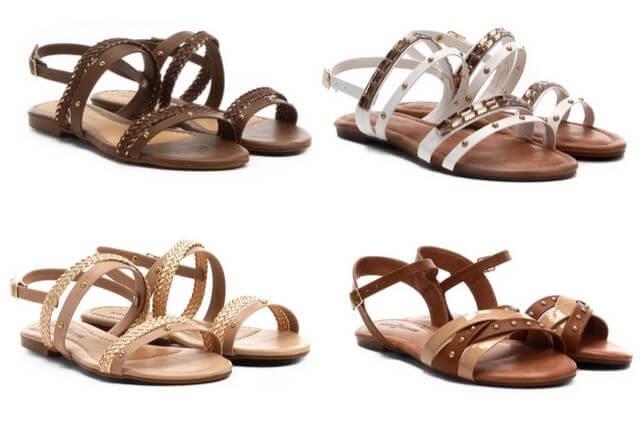 sandalhas com tiras femininas para primavera