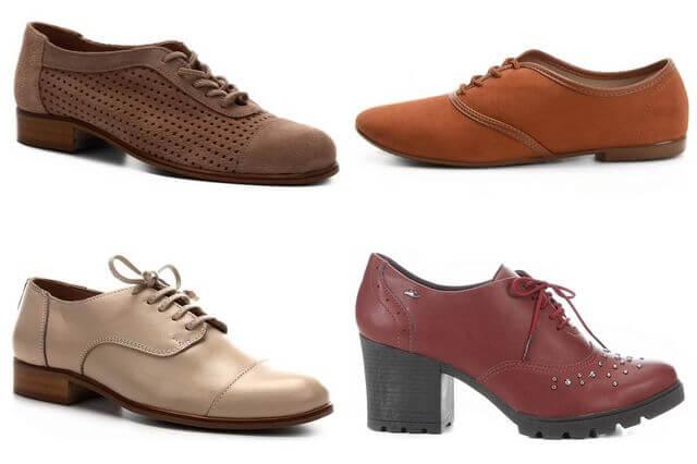 sapatos oxford femininos da moda